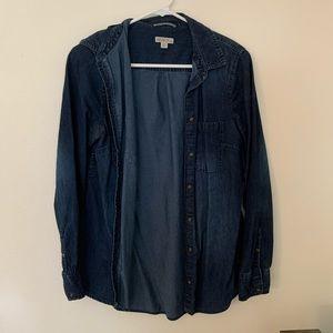 Merona Chambray Shirt - Dark Wash